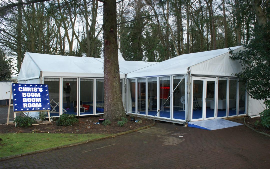 Puvis Marquees, glazing, car park, disco event, private party