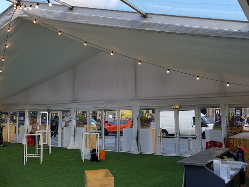 A 30M Clearspan marquee for University Graduation ceremony
