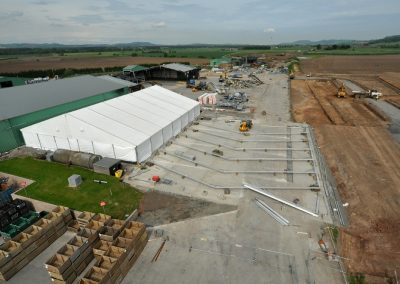 Purvis Marquees, Fire Damage, Temporary Factory Production Structure
