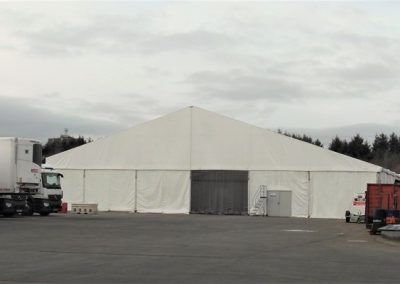 Purvis Marquees, Temporary Storage, Supermarket Warehouse